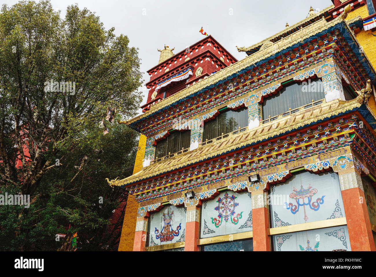 Long youth cole temple of litang county of sichuan province - Stock Image