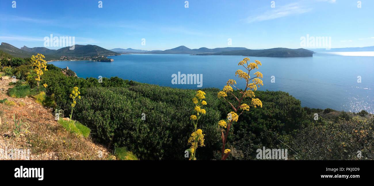 Headland of Capo Caccia on the northeast coast of the island of Sardinia, Italy. - Stock Image