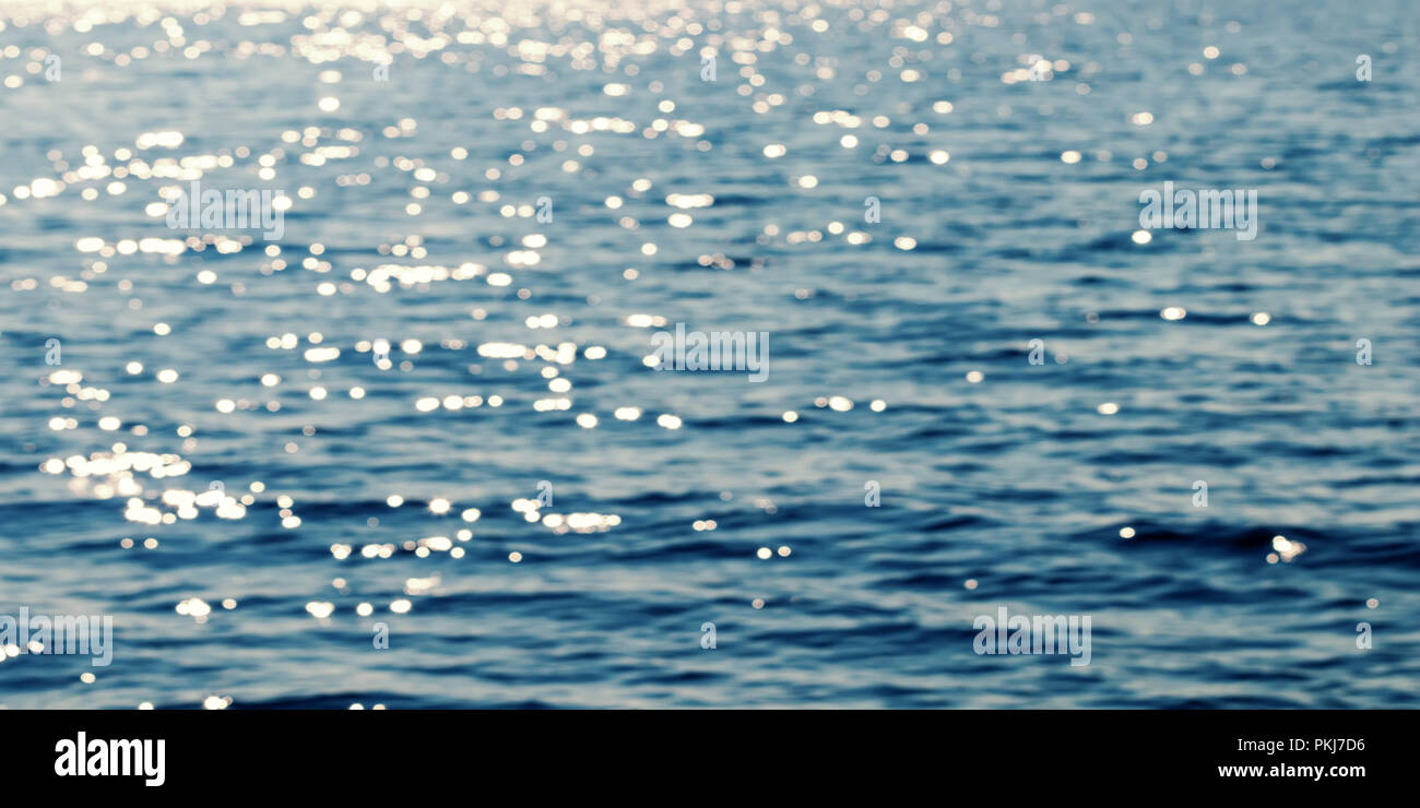 Ocean water blurred background - Stock Image