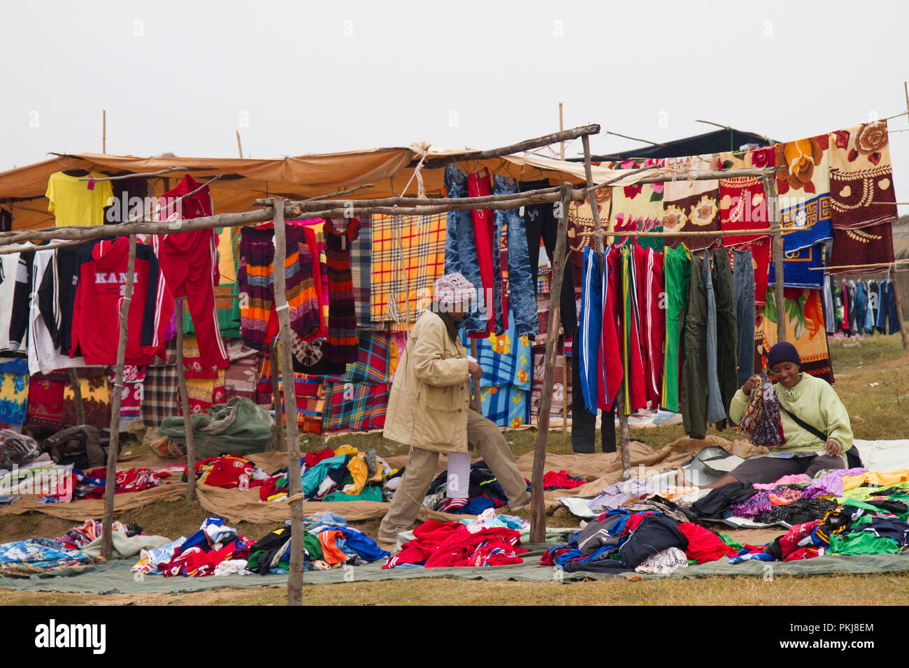 Madagascan farmers market, Madagascar - Stock Image