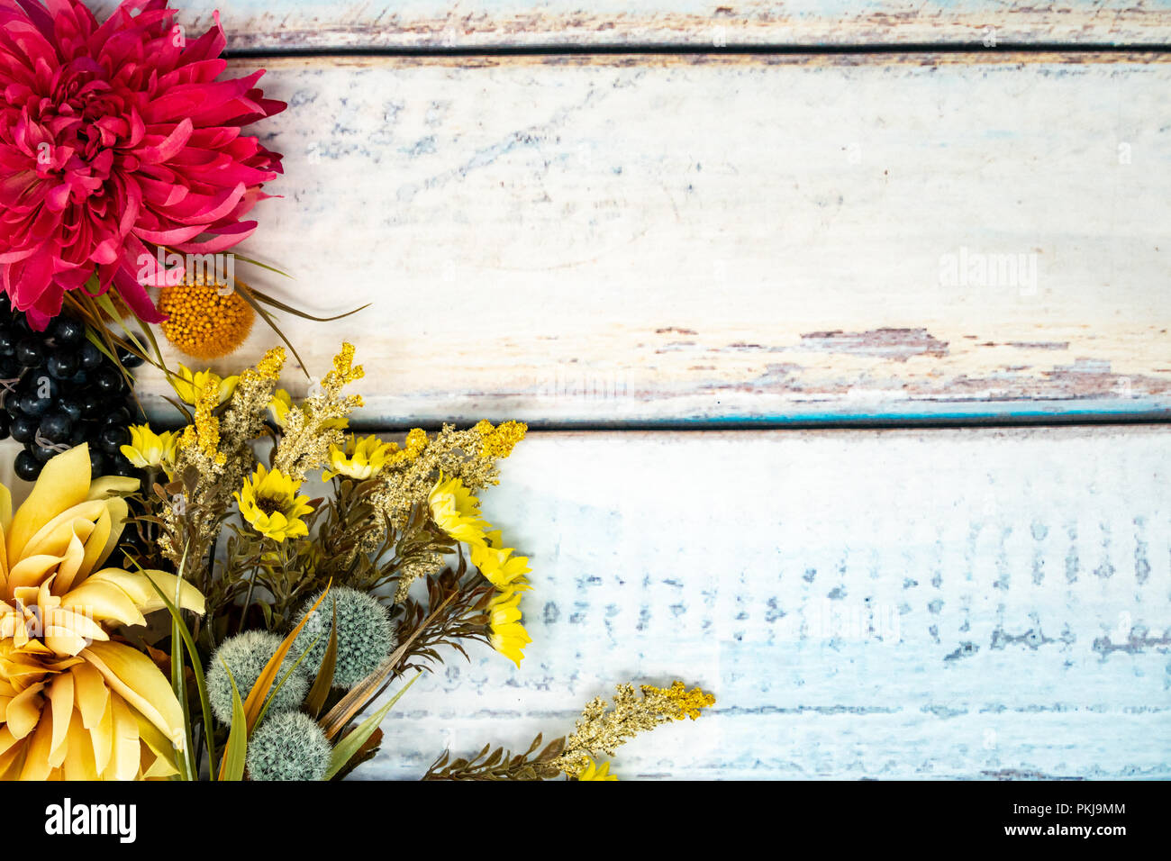 Pretty Fall Background On A Wooden Backdrop Fall Flowers Mums