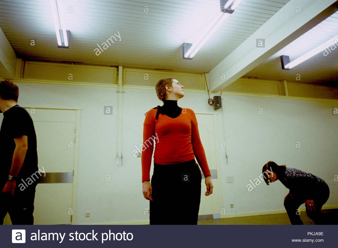 Actors workshop in the Provinciaal Vormingscentrum Malle (Belgium, 26/01/2008) - Stock Image