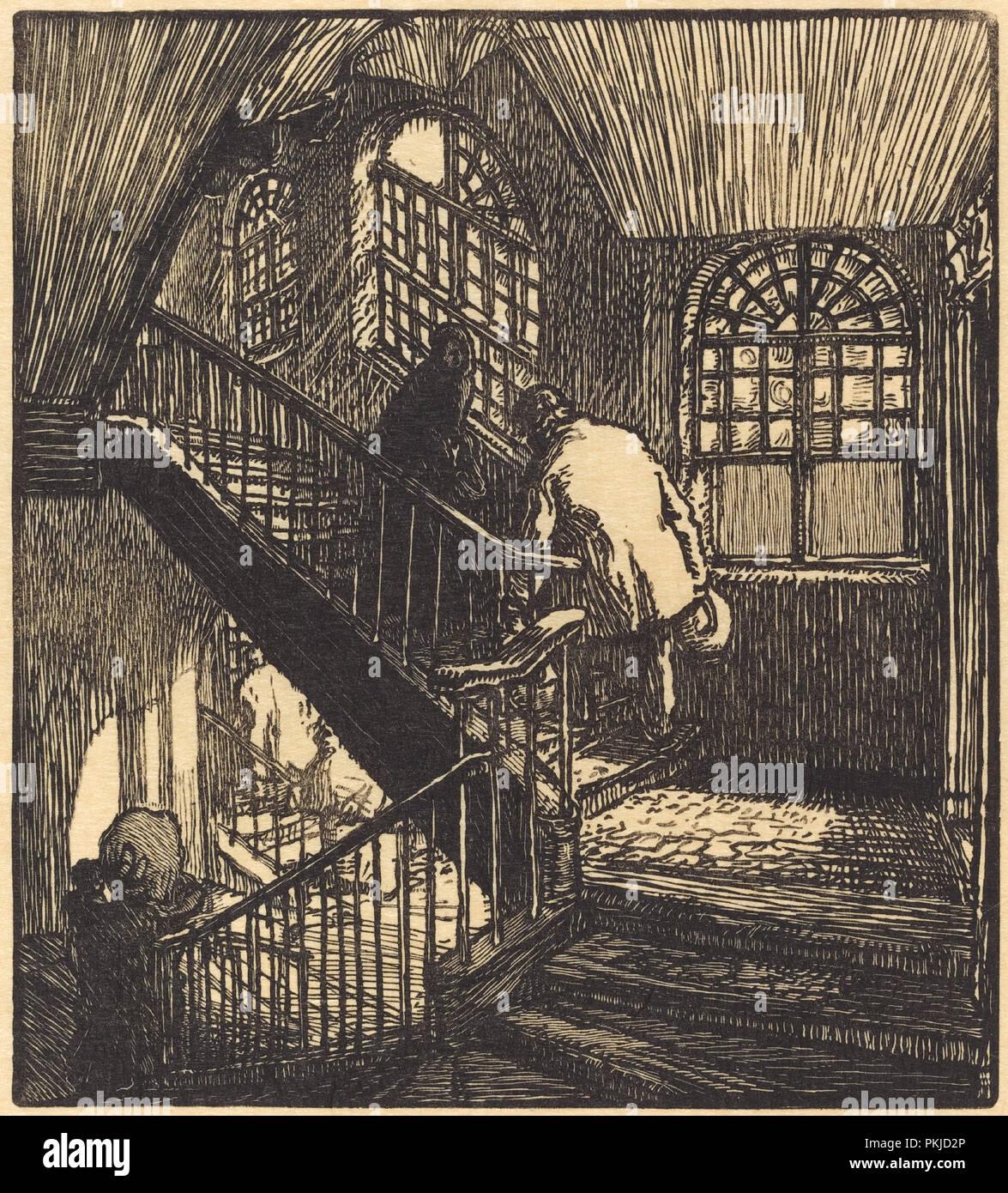 Escalier Dans La Maison escalier de la maison ou etait le chateau rouge. dated