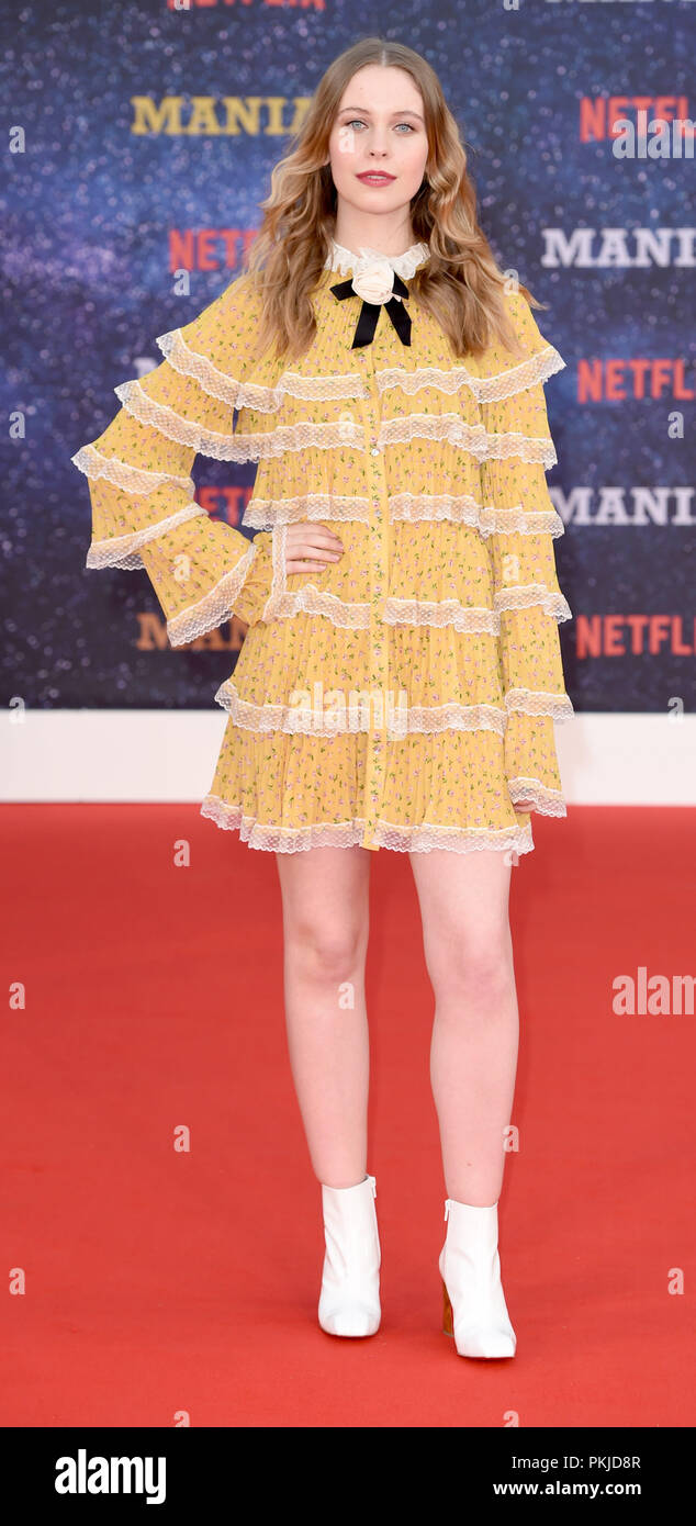 Photo Must Be Credited ©Alpha Press 079965 13/09/2018 Sorcha Groundsell at the Maniac World TV Premiere held at the Southbank Centre in London - Stock Image