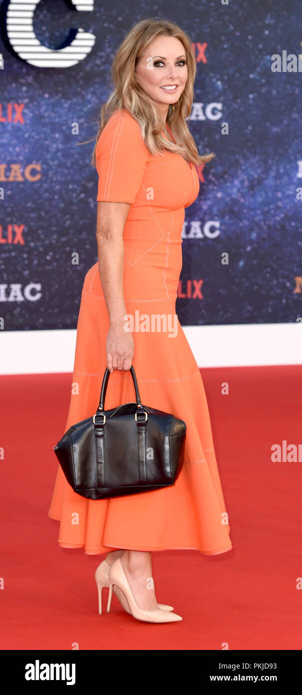 Photo Must Be Credited ©Alpha Press 079965 13/09/2018 Carol Vorderman at the Maniac World TV Premiere held at the Southbank Centre in London - Stock Image