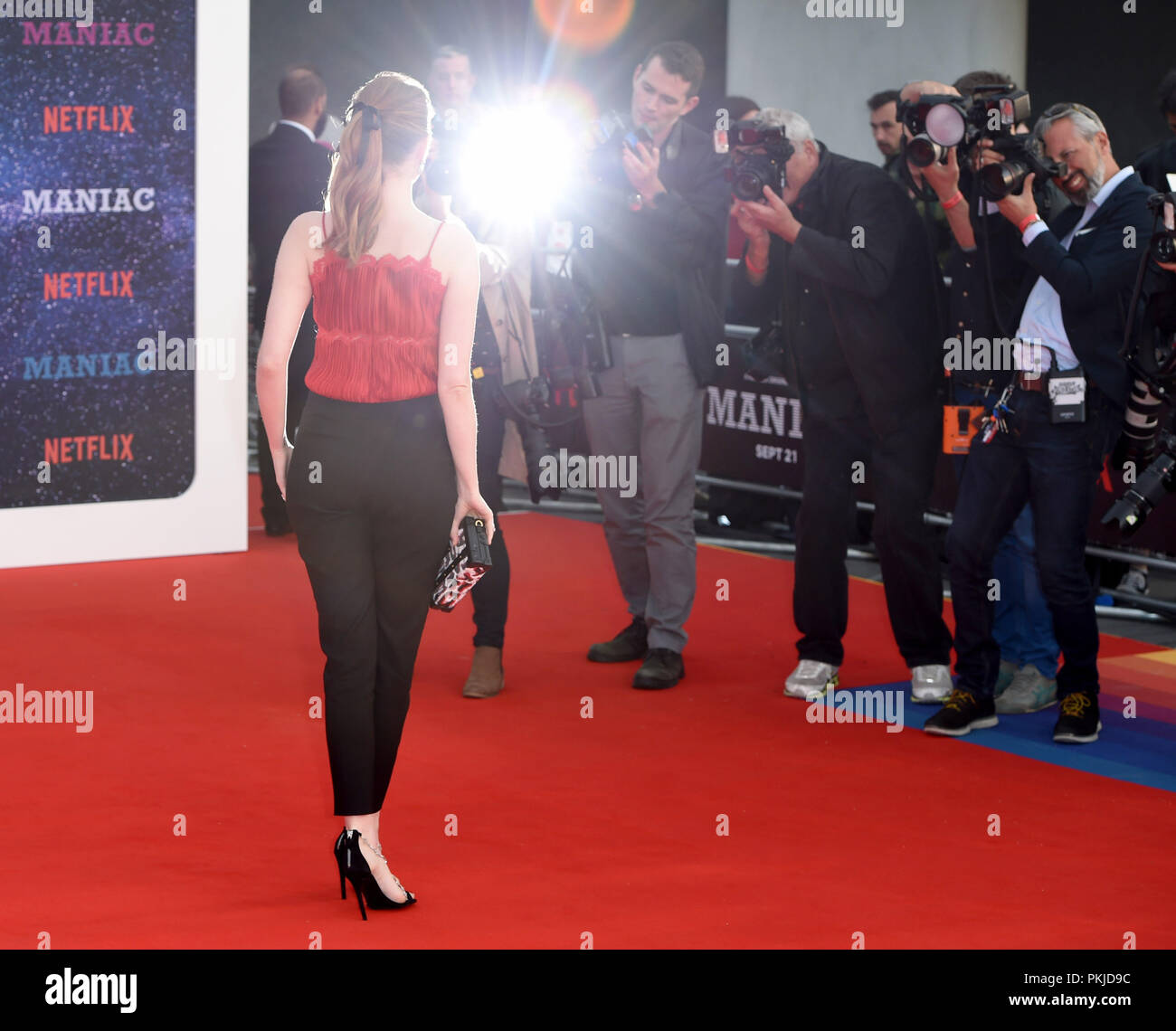 Photo Must Be Credited ©Alpha Press 079965 13/09/2018 Emma Stone at the Maniac World TV Premiere held at the Southbank Centre in London - Stock Image