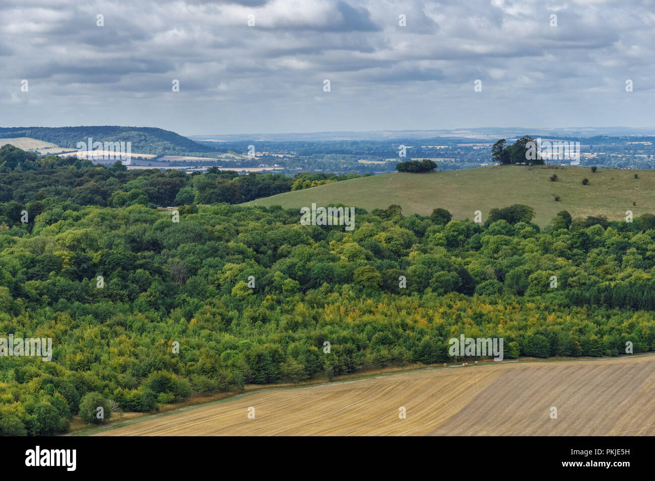 View from the Coombe Hill in The Chilterns Buckinghamshire, England United Kingdom UK - Stock Image