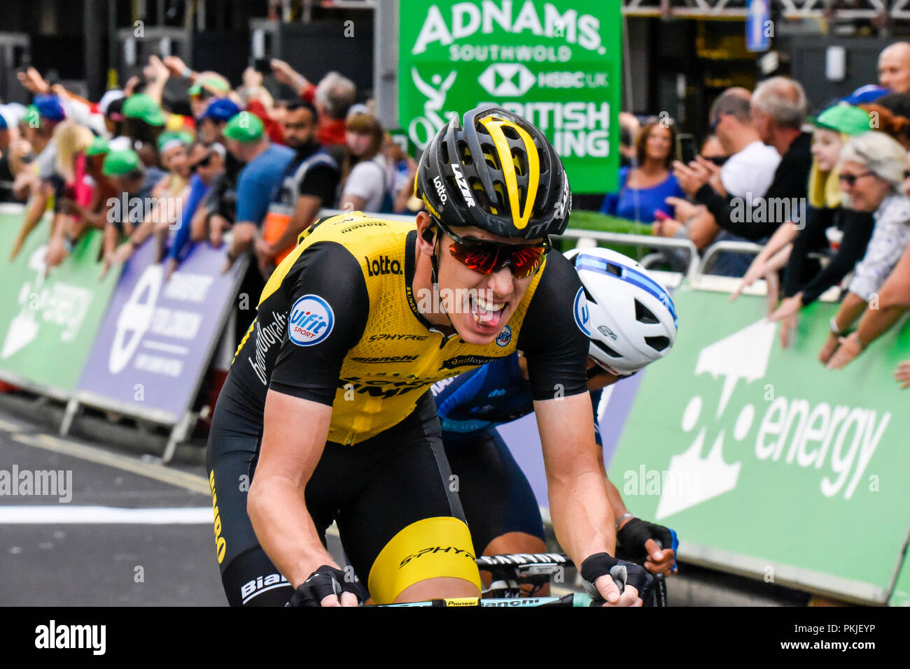 Rider of Team Lotto NL Jumbo at the OVO Energy Tour of Britain cycle race 87987cbe5