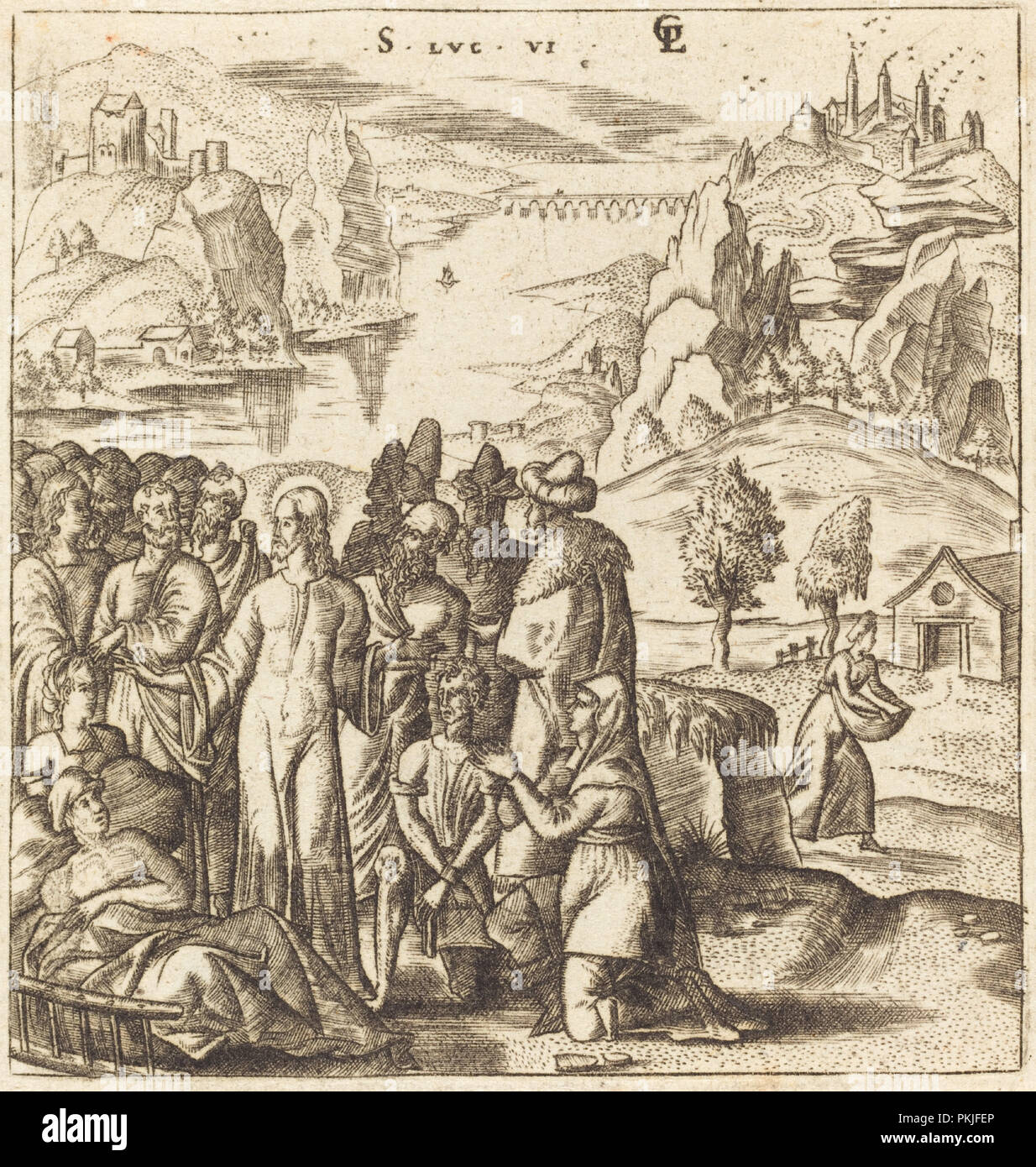 Christ Heals the Sick. Dated: probably c. 1576/1580. Medium: engraving.  Museum: National Gallery of Art, Washington DC. Author: Léonard Gaultier.