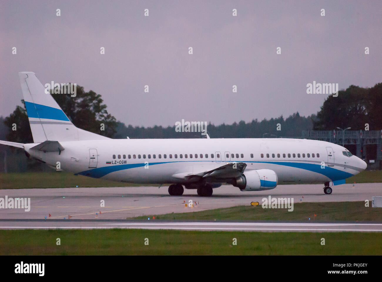 Bulgarian Cargo Air Boeing 737-400 in Gdansk Lech Walesa Airport in Gdansk, Poland. September 12th 2018 © Wojciech Strozyk / Alamy Stock Photo Stock Photo