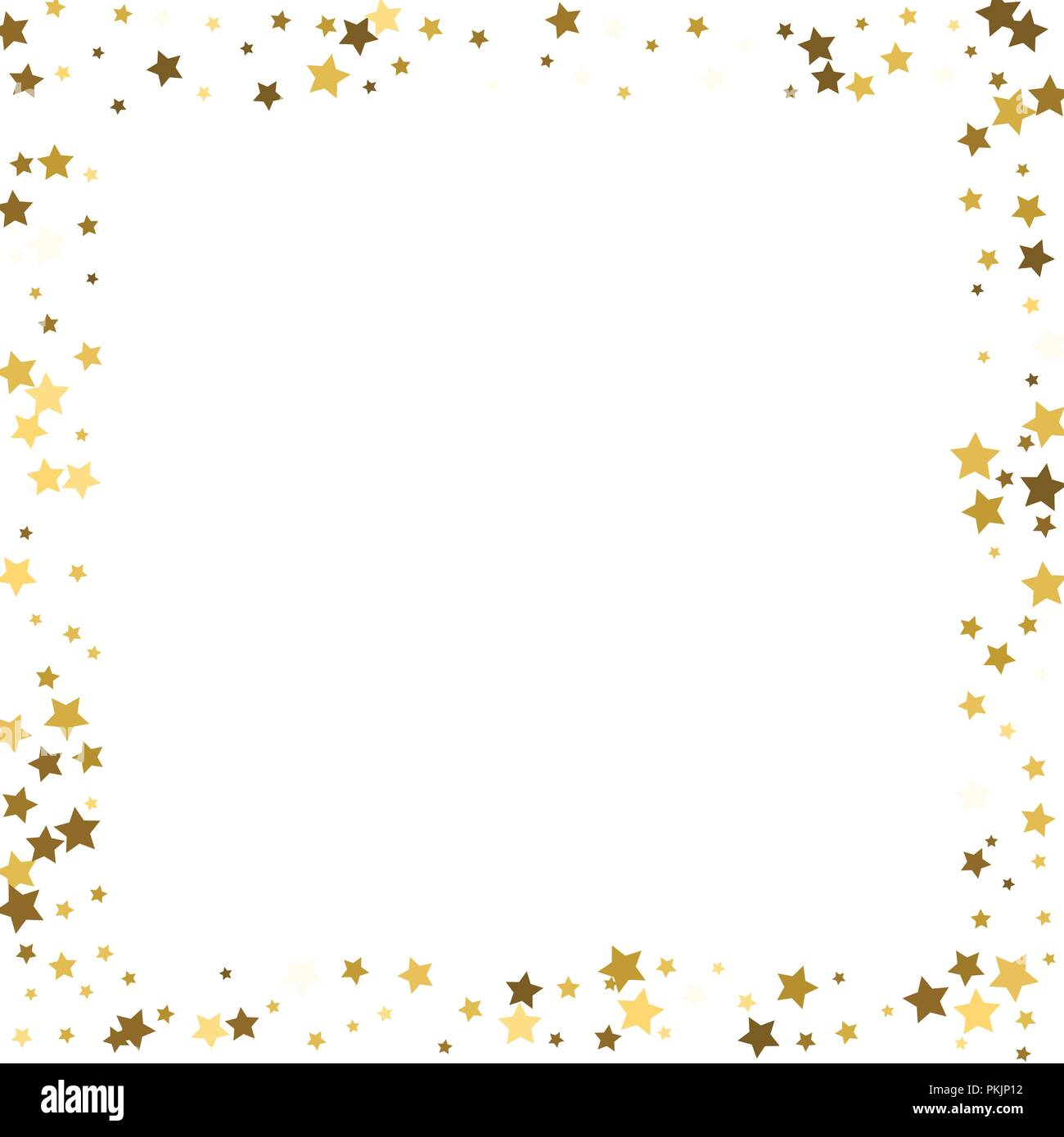 gold stars on a white background vector iilustration golden stars