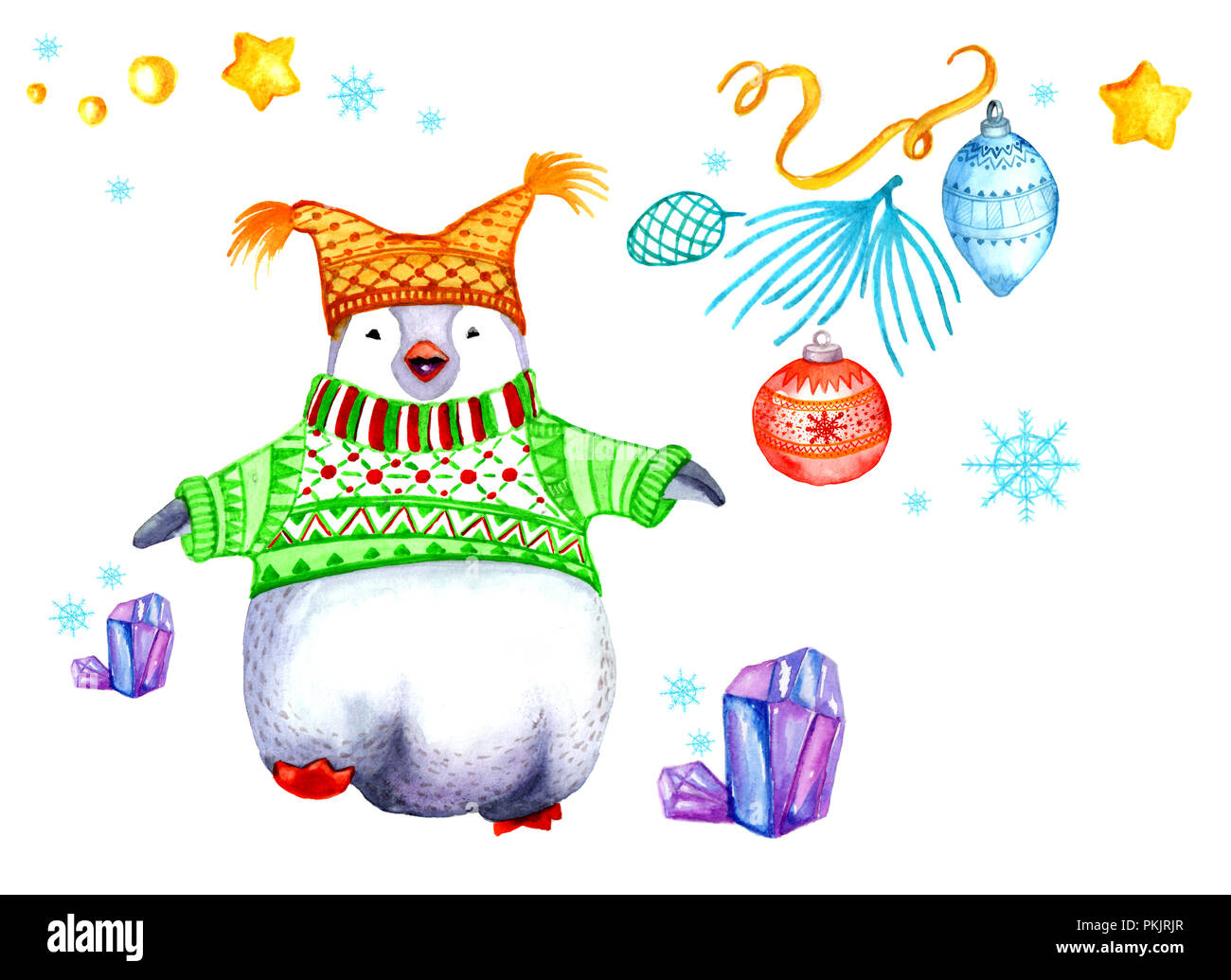 Scarf Penguin Snow Character Winter Stock Photos & Scarf Penguin ...