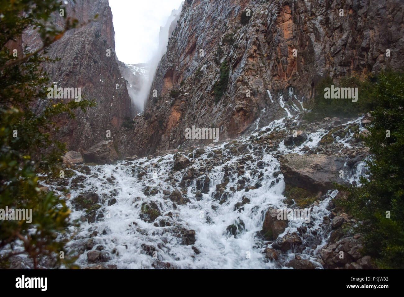 Sources of River Ahanssal in Morocco - Stock Image