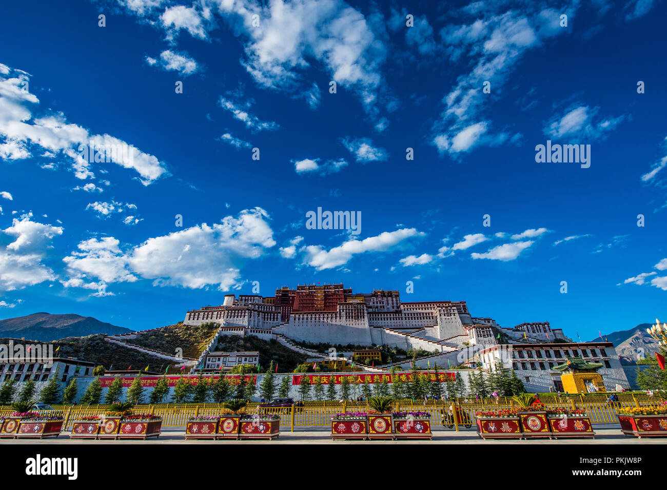 The potala palace in Lhasa in Tibet - Stock Image