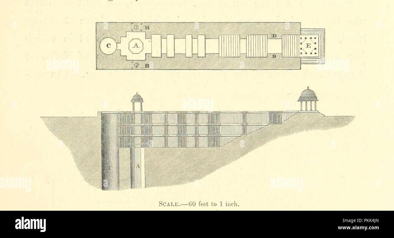 Image  from page 85 of 'Architecture at Ahmedabad, the Capital of Goozerat, photographed by Colonel Biggs, . With an historical and descriptive sketch, by T. C. H., . and architectural notes by J. Fergusson, etc' by The B0008. - Stock Image