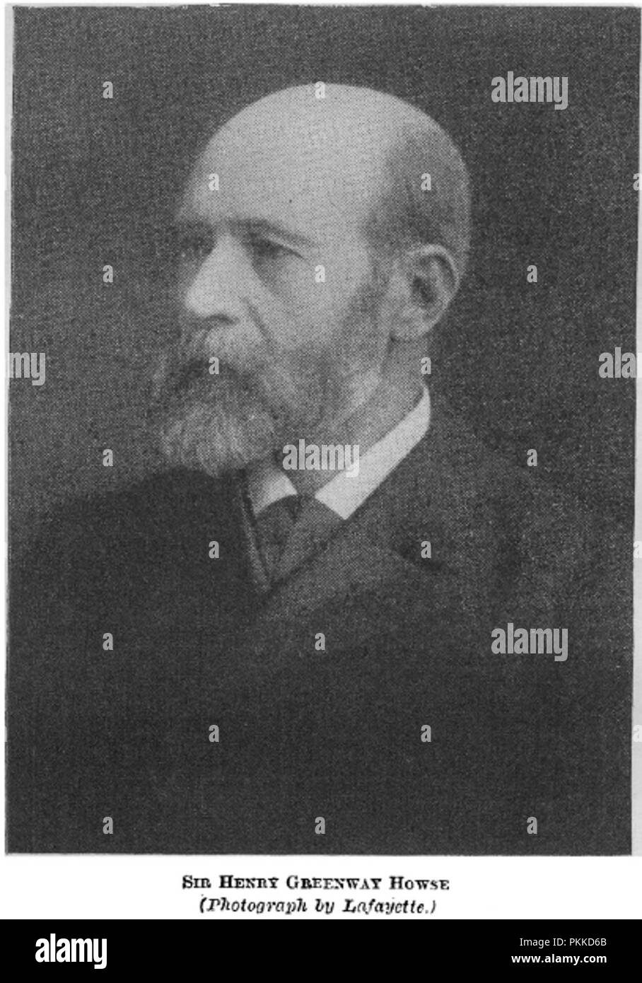 A portrait photograph of Sir Henry Greenway Howse, taken by Lafayette and published in the British Medical Journal as part of an obituary. Sir Henry Howse was a former president of the Royal College of Surgeons. - Stock Image