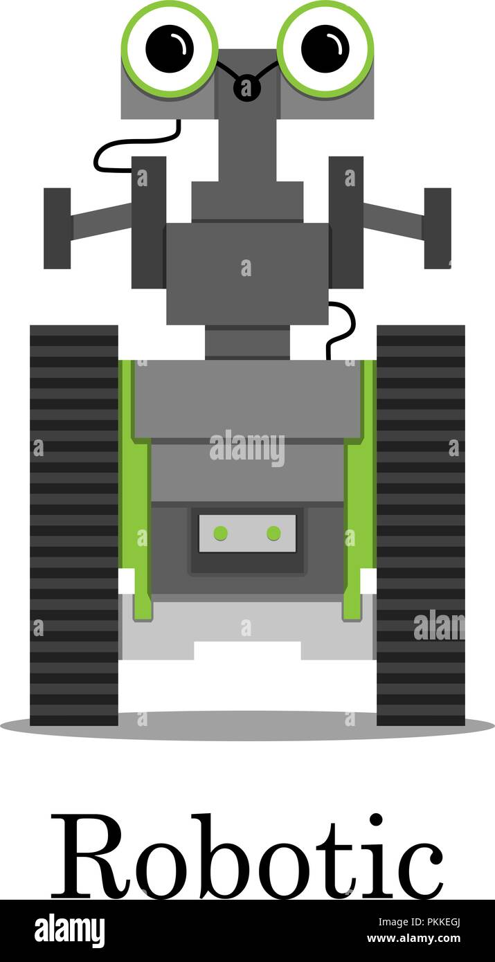 Vector color illustration of the robot. Stock Vector