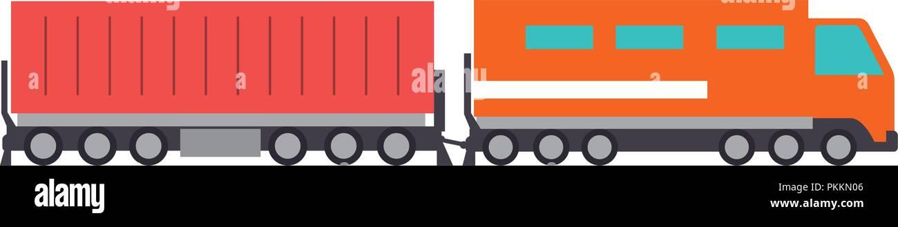 cargo train logistic service - Stock Vector