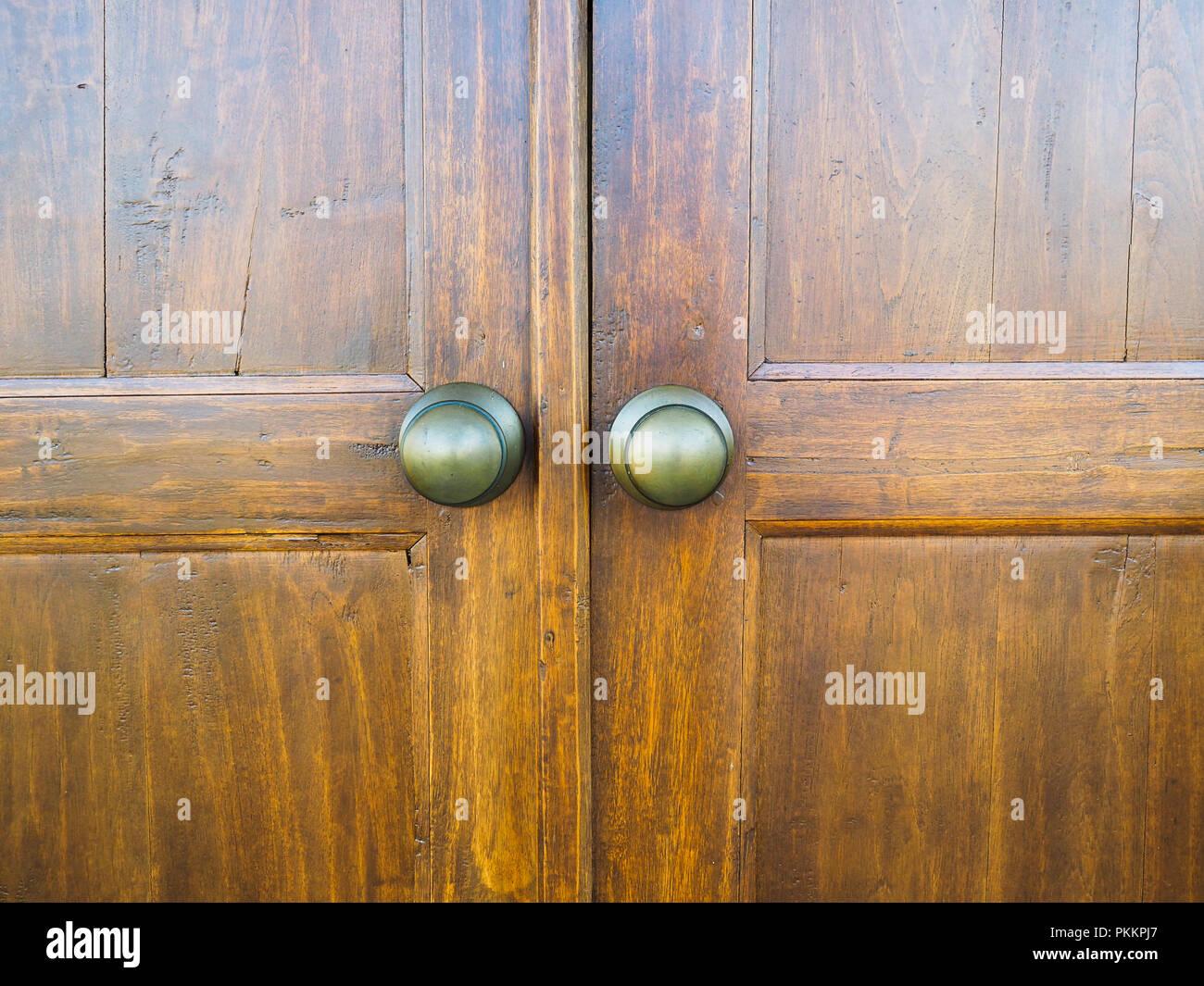 VIntage Javanese wooden door - Stock Image