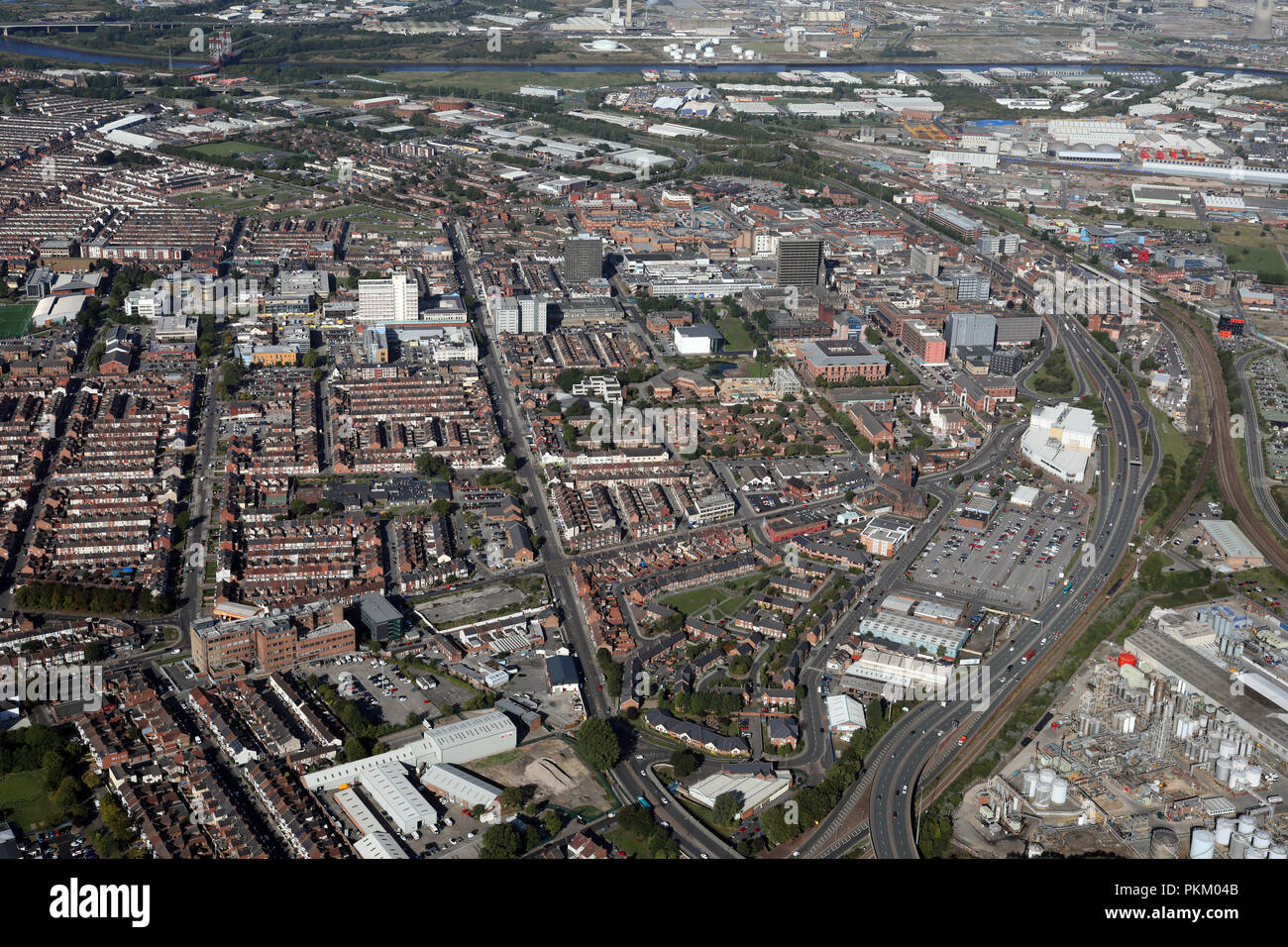 aerial view of Middlesbrough - Stock Image