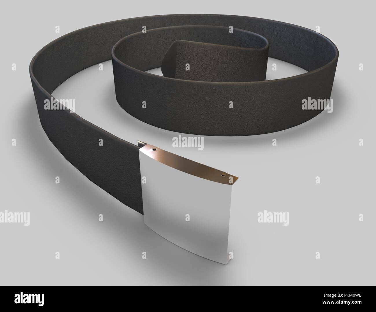 Leather belt 3d illustration - Stock Image