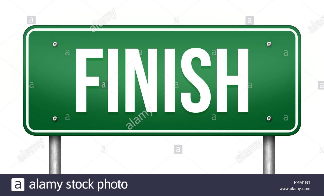 finish sign - Stock Image