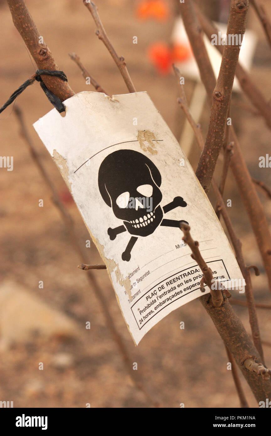 Chemical beware sign stock photos image-2158