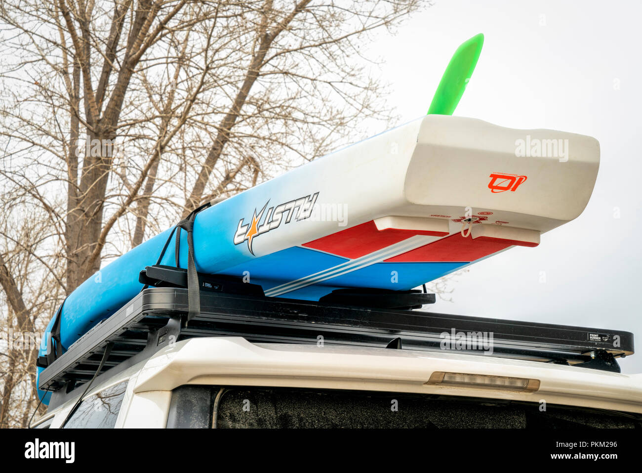 Paddle Board Car Racks >> Fort Collins Co Usa April 7 2018 A Racing Stand Up
