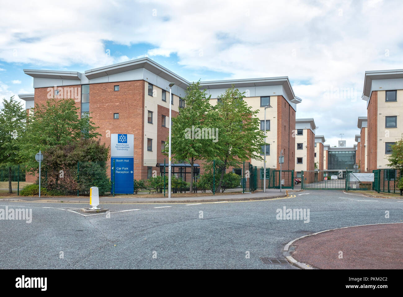 Manchester Metropolitan University Booth Hall building in Crewe Cheshire UK - Stock Image