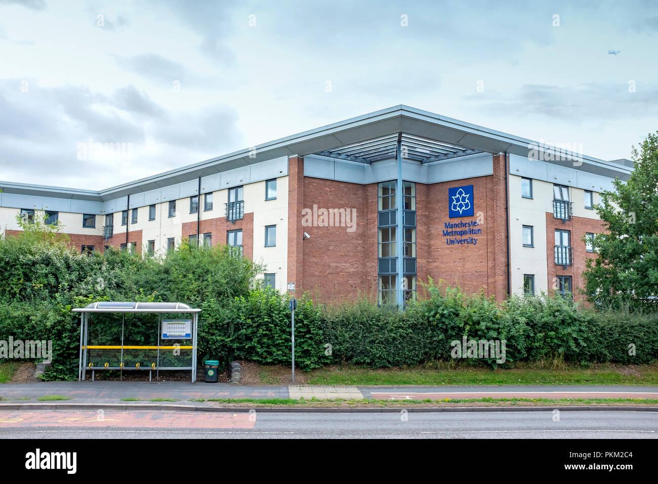 Manchester Metropolitan University in Crewe Cheshire UK - Stock Image