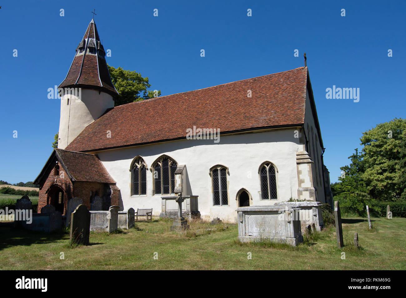 Holy Innocents Church, Lamarsh, Essex Stock Photo: 218646892