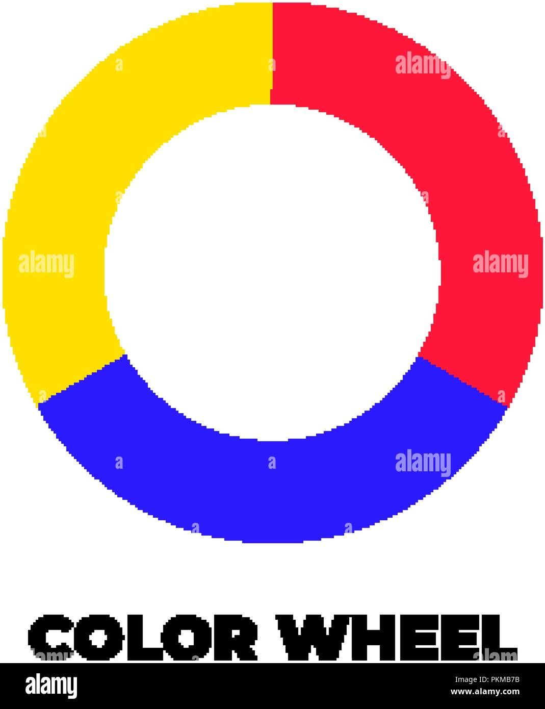 Simple Color Wheel Icon Isolated On White Background Circular Logo