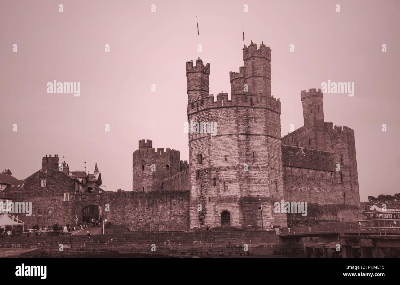 Caernarfon Castle North Wales  Ray Boswell - Stock Image