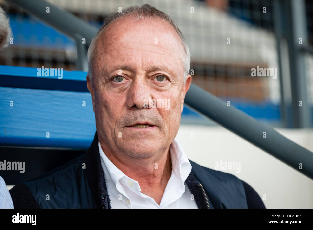France. September 07, 2018. Bernard Lacombe is a former French football international. Olympique Lyonnais player, he also played in Bordeaux and St Et - Stock Image