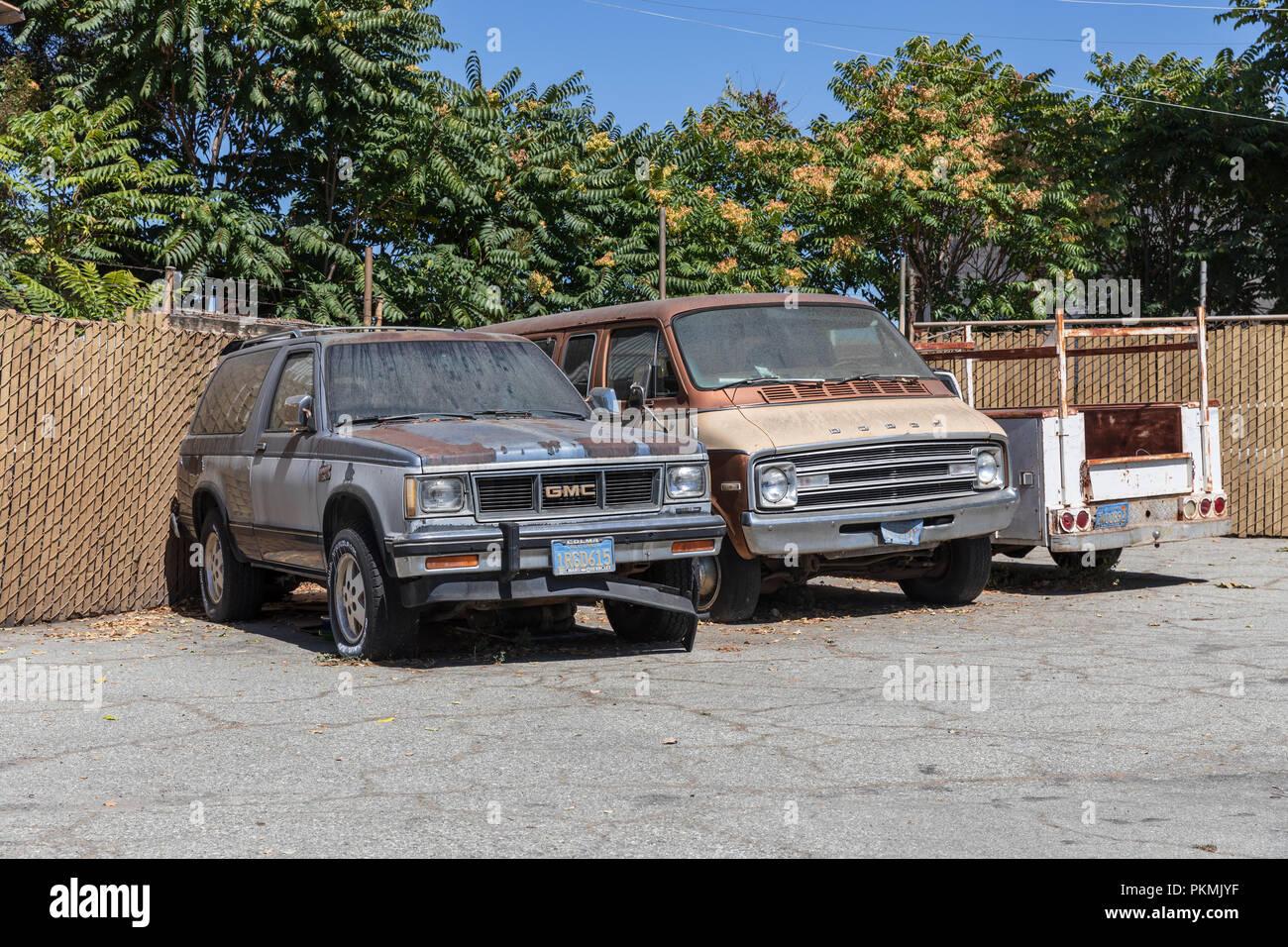 Old Cars Gmc Dodge Sunnyvale California Usa Stock Photo Alamy