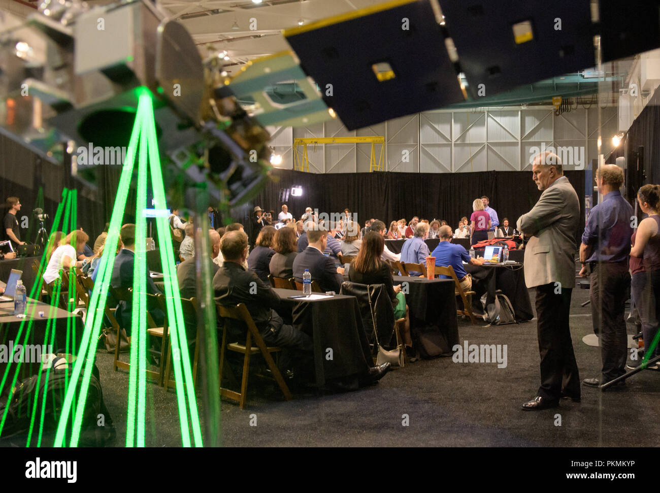 Vandenberg Air Force Base, California, USA. 13th Sep, 2018. Prelaunch briefing for the NASA Ice, Cloud and land Elevation Satellite-2 (ICESat-2), Thursday, Sept. 13, 2018, at Vandenberg Air Force Base in California. The ICESat-2 mission will measure the changing height of Earth's ice. Photo Credit: (NASA/Bill Ingalls) NASA via globallookpress.com Credit: Nasa/Russian Look/ZUMA Wire/Alamy Live News - Stock Image