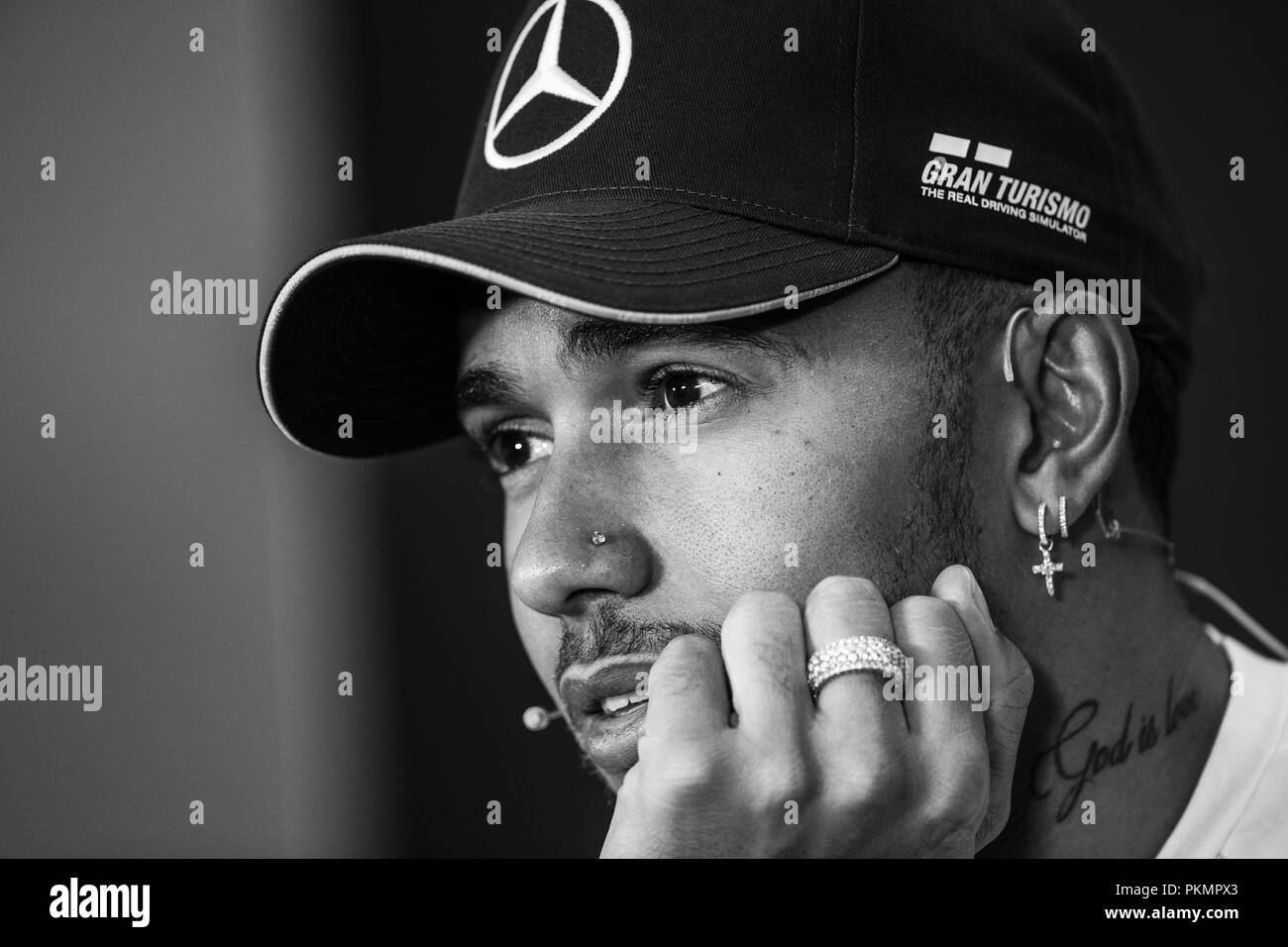 Lewis Hamilton Black and White Stock Photos   Images - Alamy 25c5f3b80649