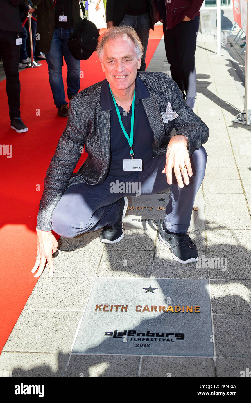 Keith Carradine is honored with a star on the OLB Walk of Fame during the Filmfest Oldenburg on September 14, 2018 in Oldenburg, Germany. - Stock Image