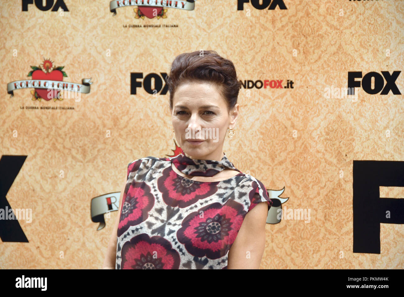 Rome Italy 13 September 2018 - Palace Brancaccio - Photocall presentation comedy series tv Romolo + Giuly Lidia Vitale in the role of Anna Montacchi Credit: Giuseppe Andidero/Alamy Live News - Stock Image