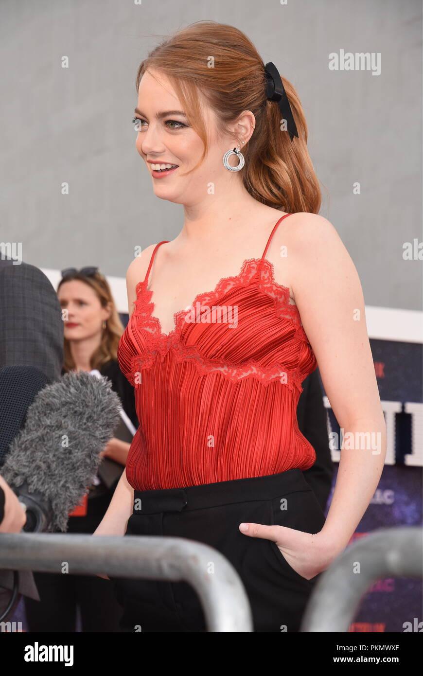 London, UK. 13th September 2018. Emma Stone,'Maniac' NetflixTV Premiere,Queen Elizabeth Hall,Southbank,London.UK Credit: michael melia/Alamy Live News - Stock Image