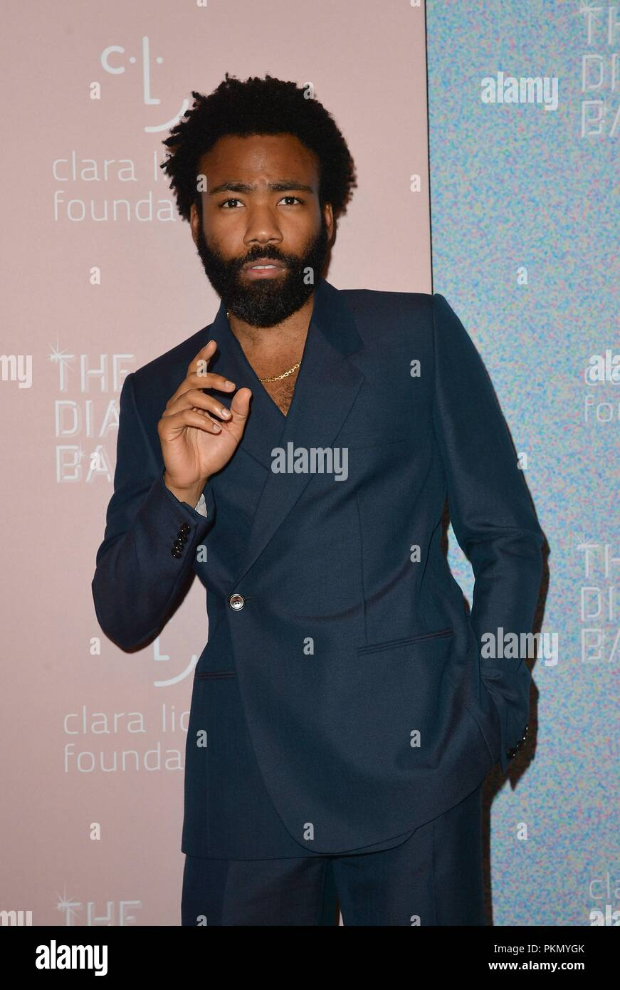 Donald Glover at arrivals for The Clara Lionel Foundation 4th Annual Diamond Ball, Cipriani Wall Street, New York, NY September 13, 2018. Photo By: Kristin Callahan/Everett Collection - Stock Image