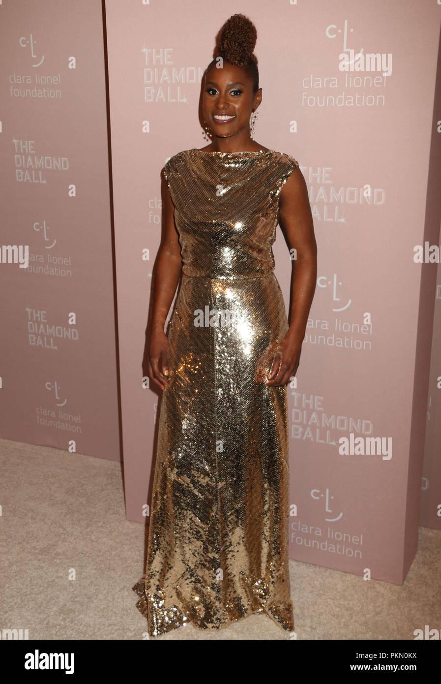 230b25d2721 September 13, 2018 - New York City, New York, U.S. - Producer ISSA RAE  attends Rihanna's 4th Annual Diamond Ball held at Cipriani Wall Street.