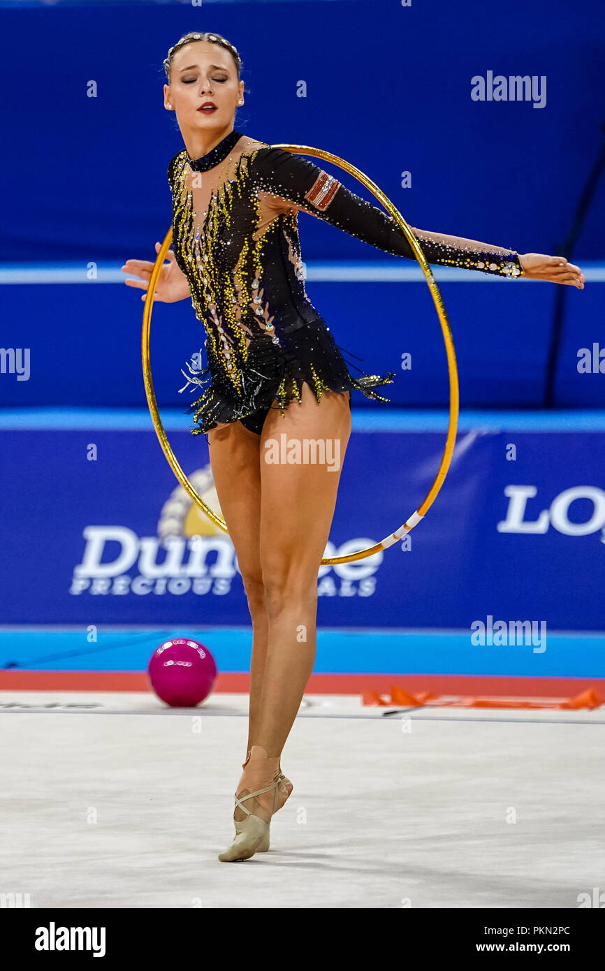 September 14, 2018: Nicol Ruprecht of Austria during Individual All-Around Final at the Arena Armeec in Sofia at the 36th FIG Rhythmic Gymnastics World Championships. Ulrik Pedersen/CSM - Stock Image
