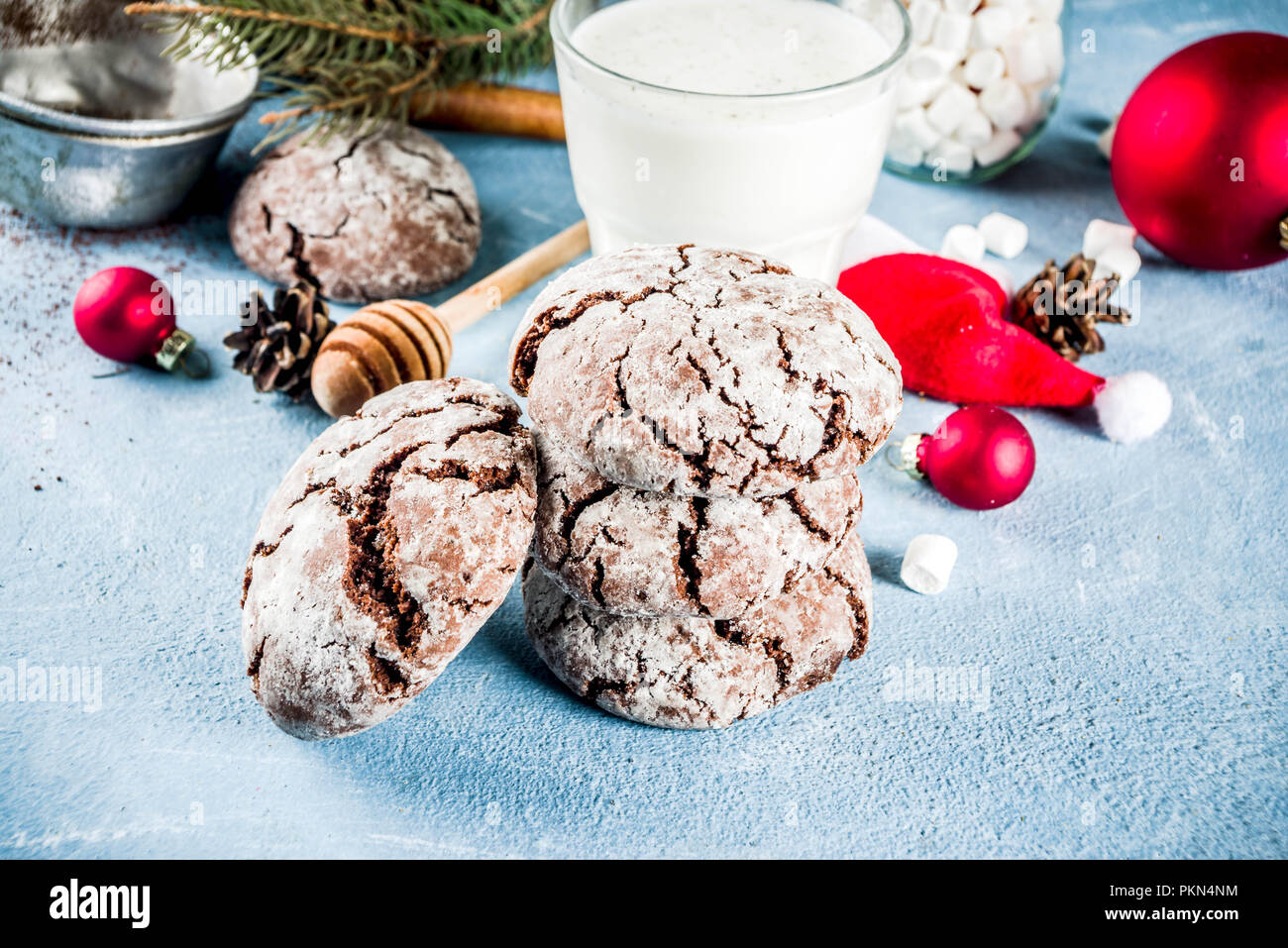 Festive Homemade Christmas Cracked Chocolate Brownie Cookies With