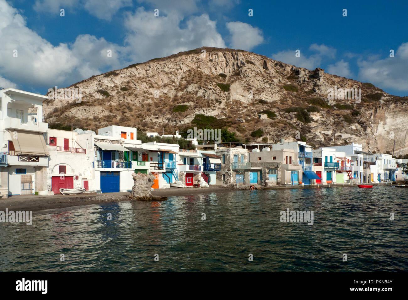 Milos, Klima village, Greece,09/13/2012: houses of Klima village - Stock Image