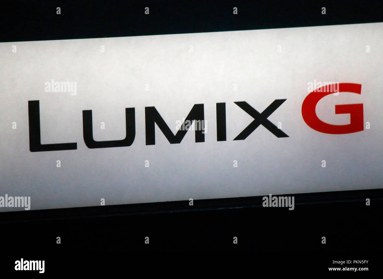 das Logo der Marke 'Panasonic Lumix G', Berlin (nur fuer redaktionelle Verwendung. Keine Werbung. Referenzdatenbank: http://www.360-berlin.de. © Jens  - Stock Image