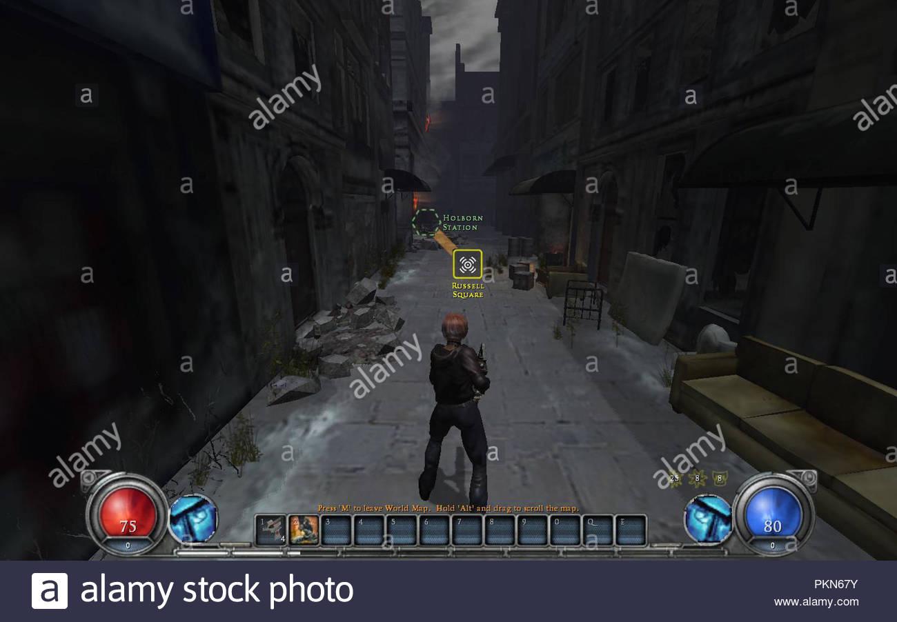 Hellgate London Pc Game Screenshot Stock Photo 218668799 Alamy