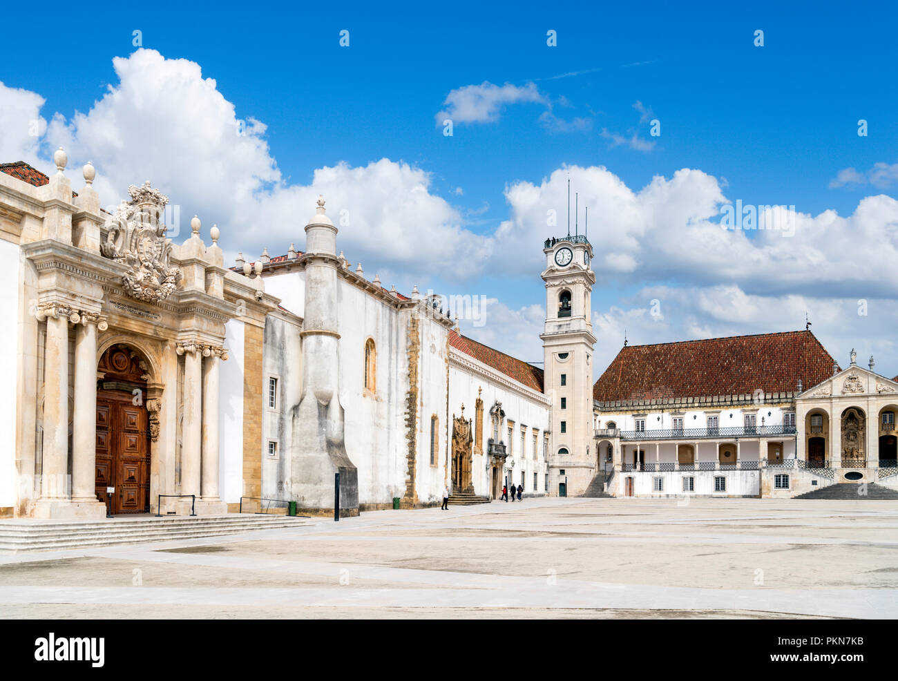 Coimbra University. Paço das Escolas, the Old University (Velha Universidade), Coimbra, Portugal - Stock Image