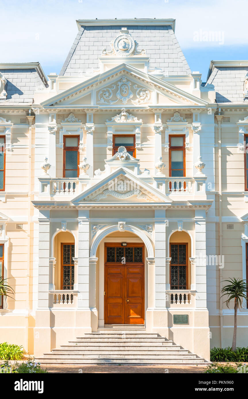 The Theology faculty of Stellenbosch University building 'sol justitiae illustra nos', South Africa - Stock Image