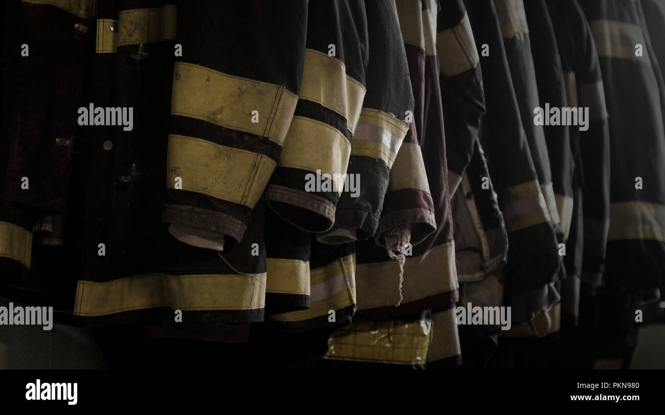 Firefighter turnout gear - Stock Image
